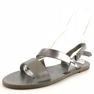 Madewell Silver Ox Slingback Leather Sandals